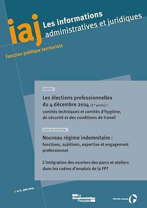 CIG Petite couronne IAJ : Les élections professionnelles du 4 décembre 2014 - 1ère partie : les comités techniques et CHSCT - Juin 2015