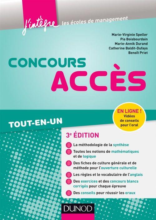 Marie-Virginie Speller Concours Accès - 3e éd.