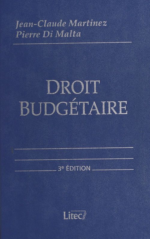 Droit budgétaire : budget de l'État, budgets locaux, budget de la Sécurité sociale, budget européen