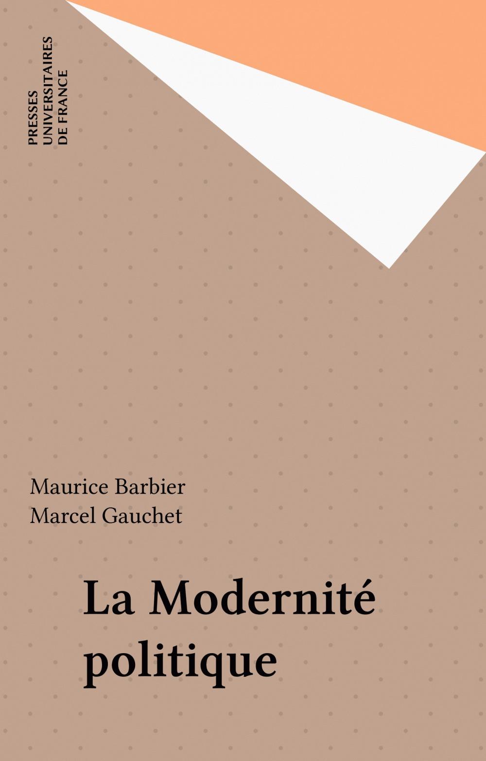 Maurice Barbier La Modernité politique