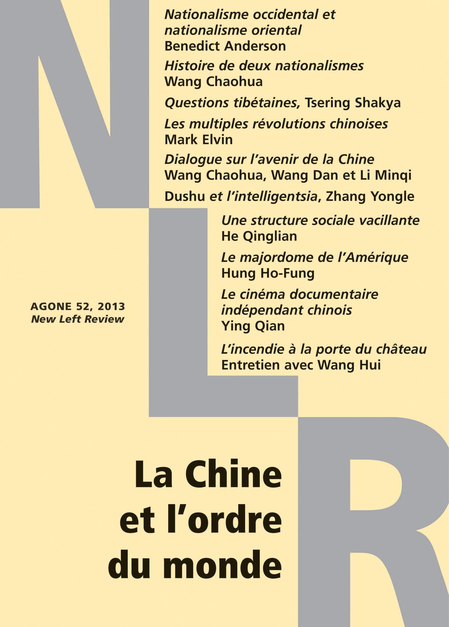 Wang Chaohua La Chine et l´ordre du monde