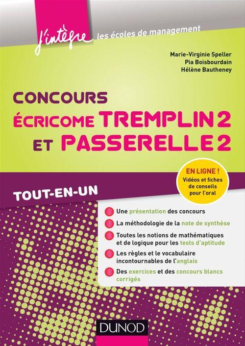 Marie-Virginie Speller Concours Écricome Tremplin 2 et Passerelle 2
