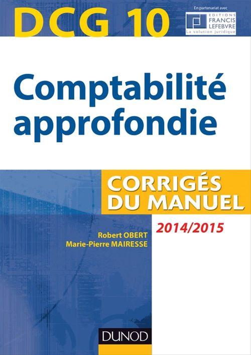 DCG 10 - Comptabilité approfondie 2014/2015 - 5e édition