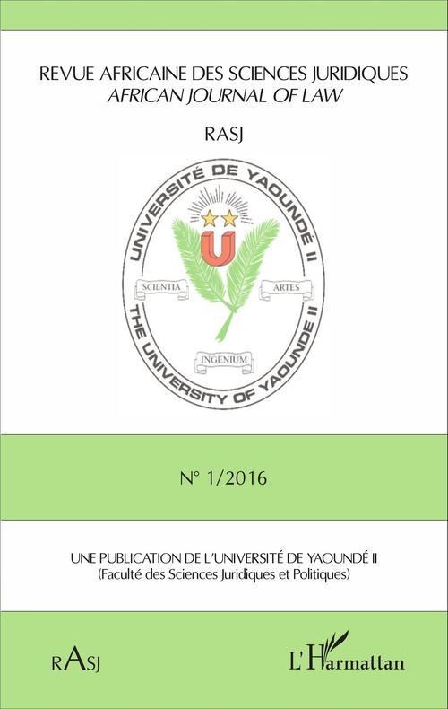 Revue africaine des sciences juridiques N° 1/2016
