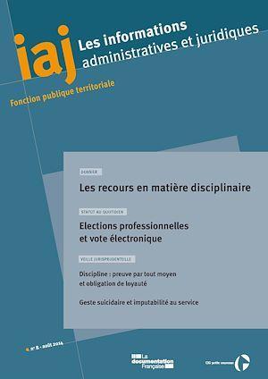CIG Petite couronne IAJ : Les recours en matière disciplinaire - Août 2014