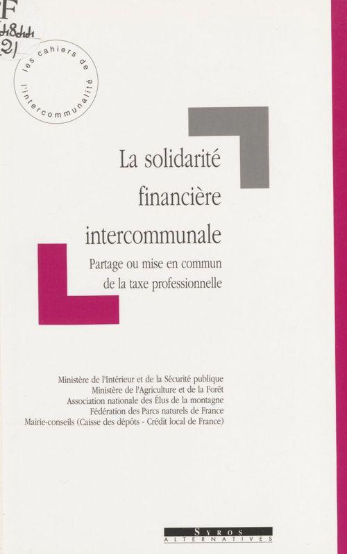 La Solidarité financière intercommunale