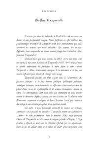 Res Publica Relire tocqueville