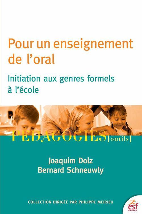 Bernard SCHNEUWLY Pour un enseignement de l'oral