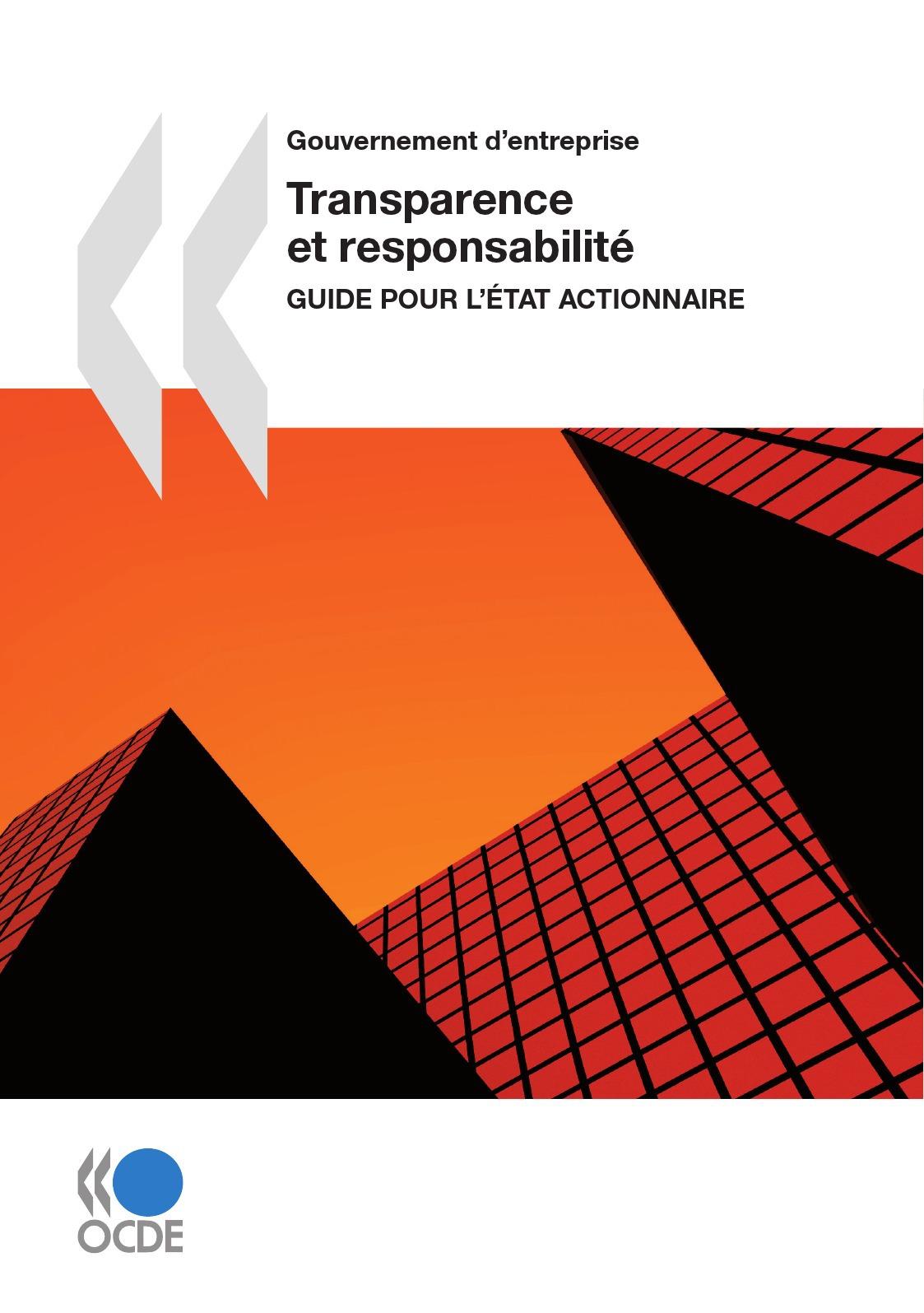 Collectif Transparence et responsabilité : Guide pour l'État actionnaire
