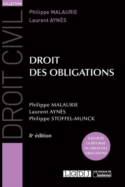 Droit des obligations - 8e édition