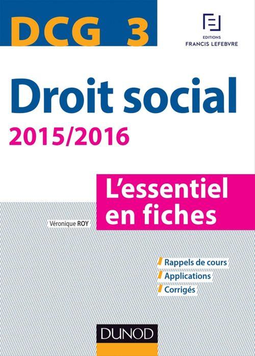 Véronique Roy DCG 3 - Droit social 2015/2016 - 6e éd.