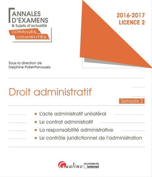 Droit administratif 2016-2017 - Licence 2 - Semestre 2