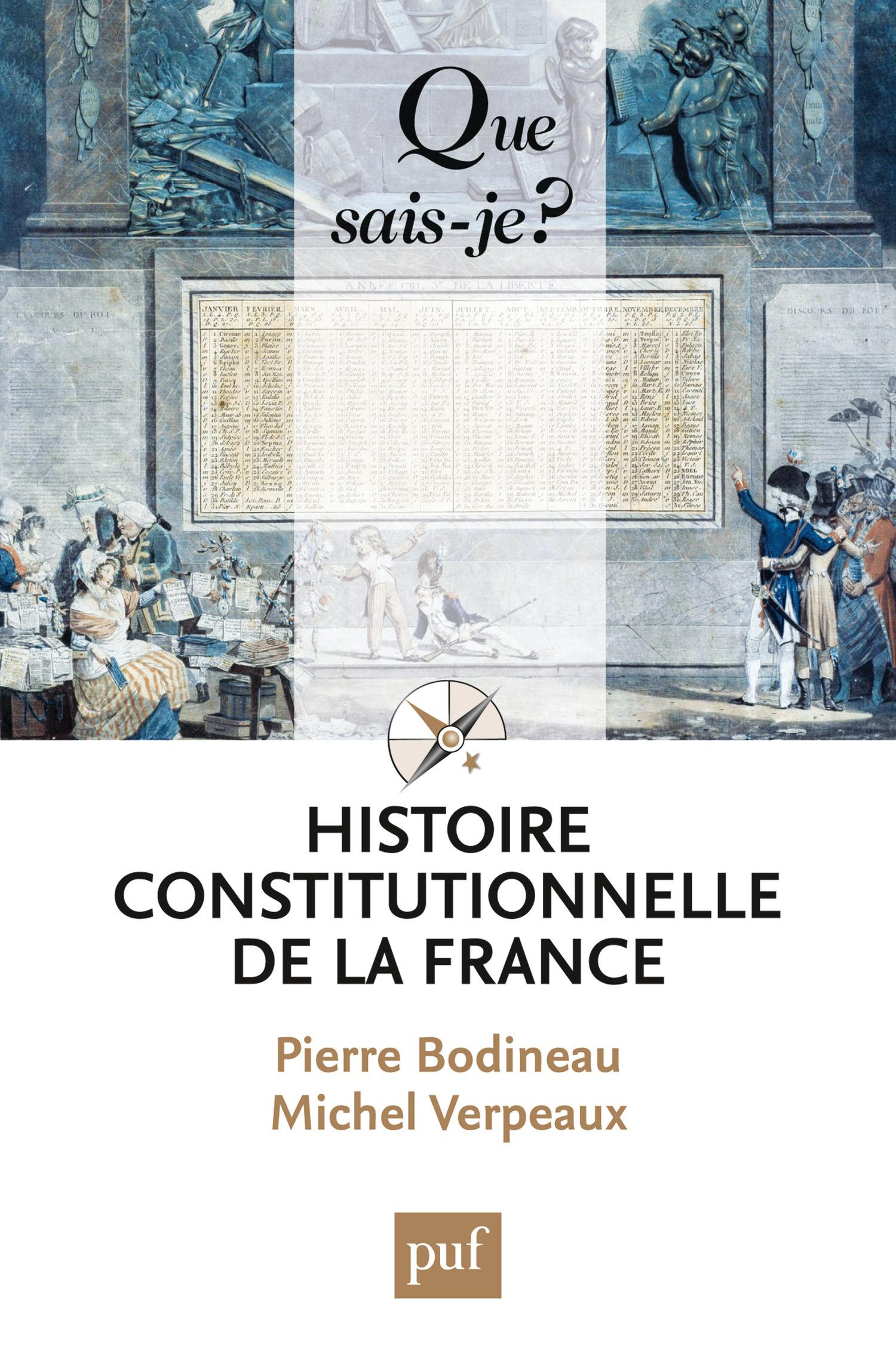 Michel Verpeaux Histoire constitutionnelle de la France
