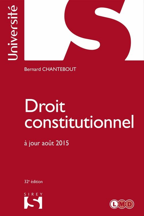 Bernard Chantebout Droit constitutionnel