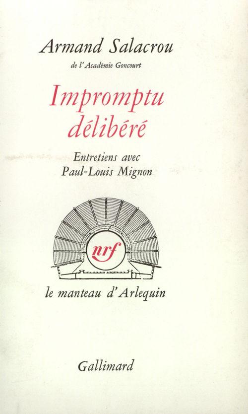 Armand Salacrou Impromptu délibéré