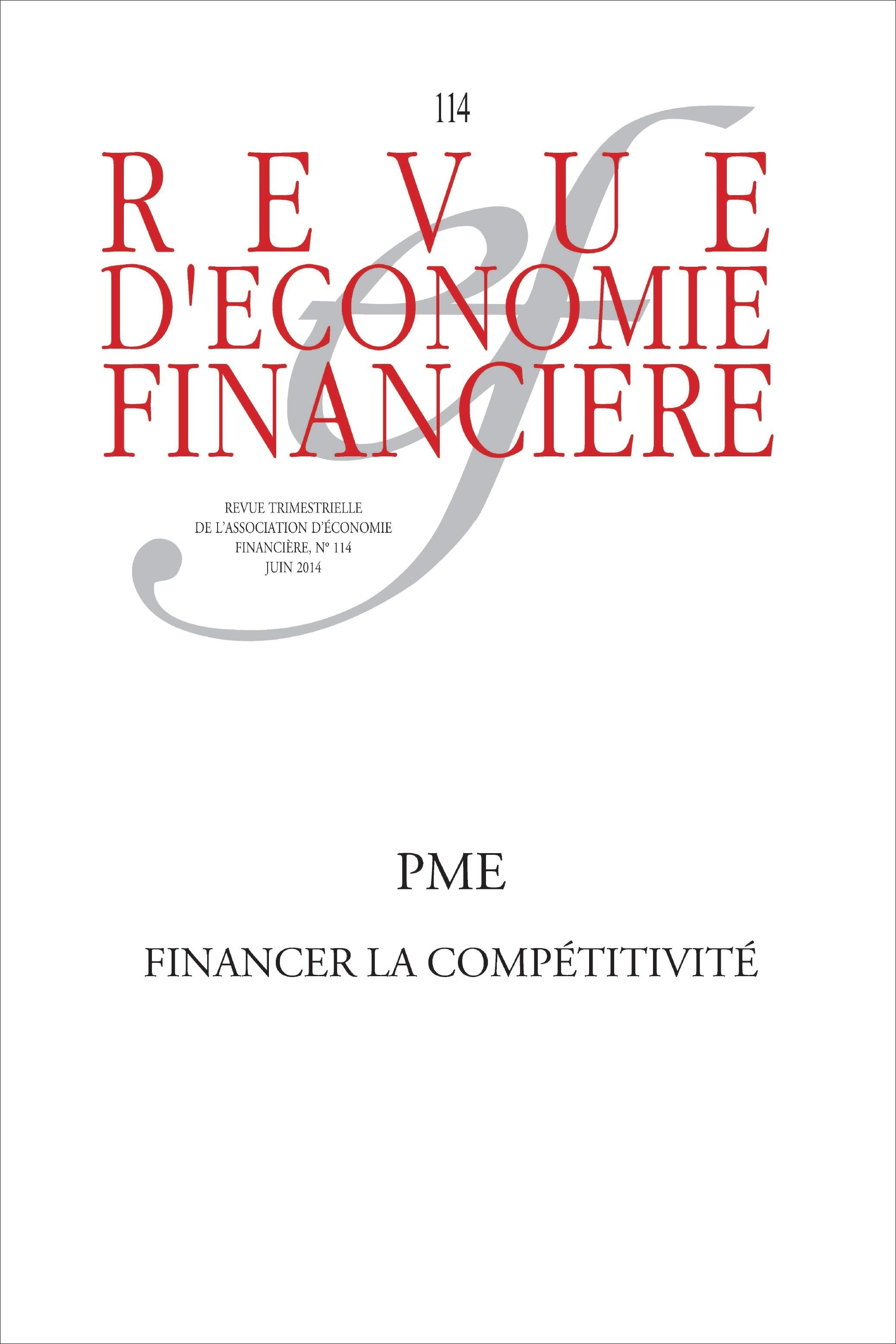 Collectif Aef Pme  Financer La Competitivite  N 114  Juin 2014