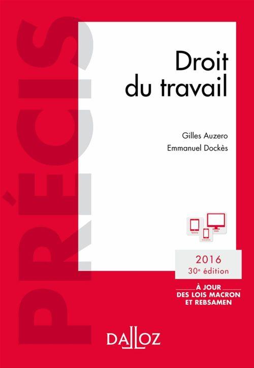 Gilles Auzero Droit du travail. Édition 2016