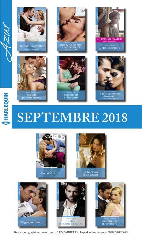 Collectif 11 romans Azur + 1 gratuit (nº3993 à 4003 - Septembre 2018)