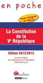 La constitution de la V Rpublique (4e dition)