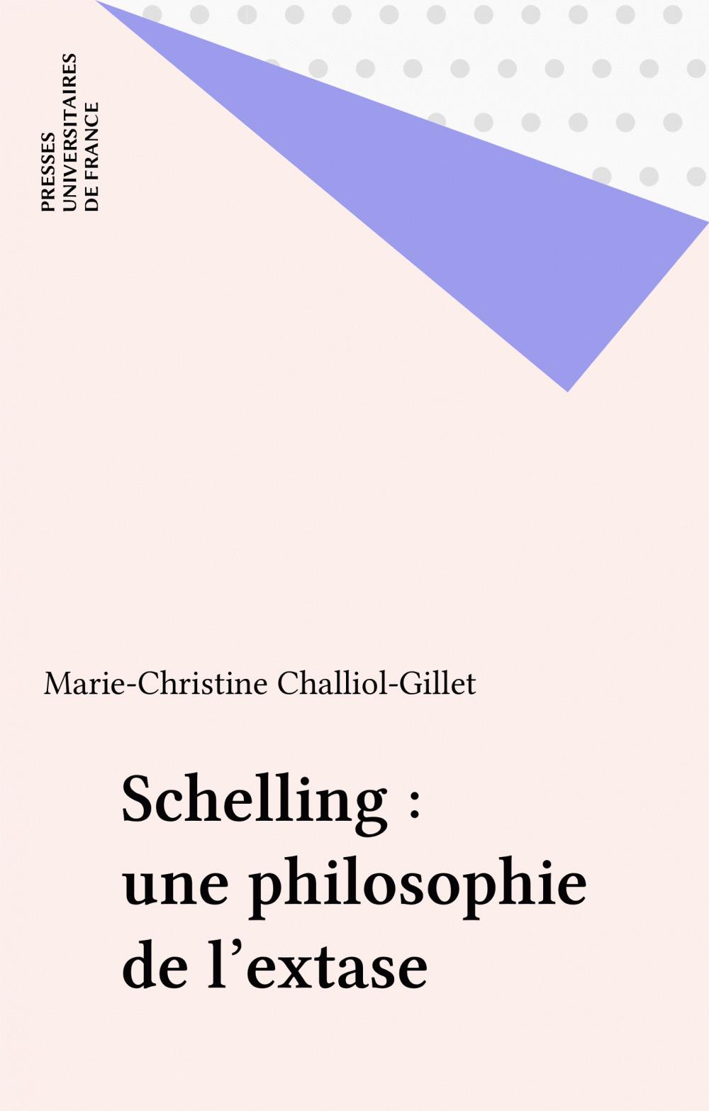 Schelling : une philosophie de l'extase