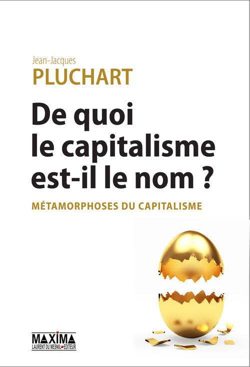 Jean-Jacques Pluchart De quoi le capitalisme est-il le nom ?
