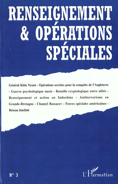 Renseignements et operations speciales n.3 novembre 1999