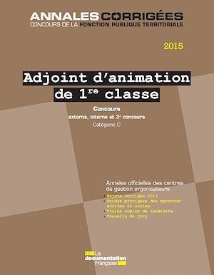 Cig Petite Couronne Adjoint d'animations de 1ère classe ; concours 2015 : externe, interne et 3e concours, catégorie C