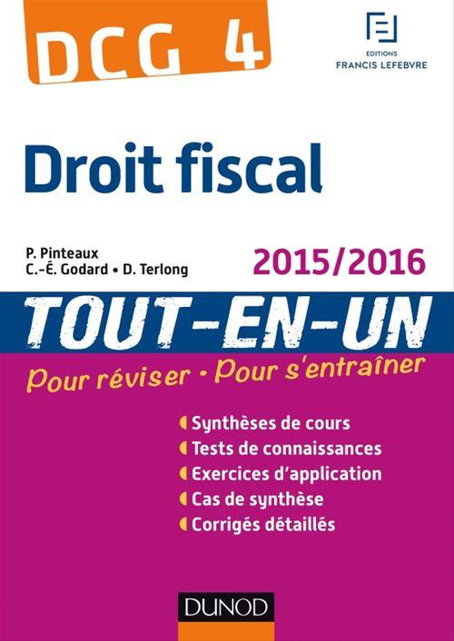 Patrick Pinteaux DCG 4 - Droit fiscal 2015/2016 - 9e éd