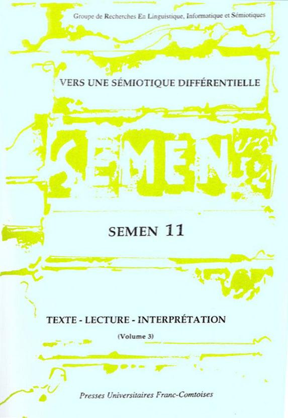 Presses Universitaires De Franche-Comté Vers une sémiotique différentielle