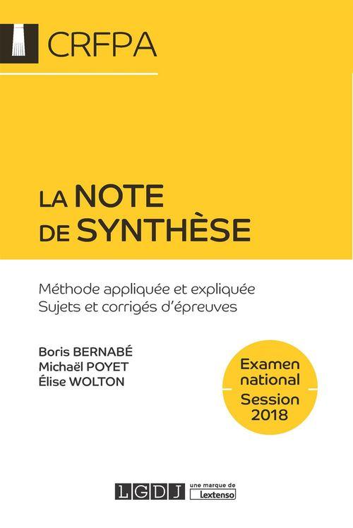 Boris Bernabé La note de synthèse 2018 - 7e édition