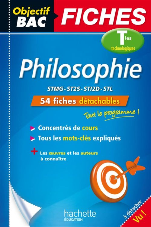 Philippe Solal Objectif Bac Fiches Philosophie Terms Techno
