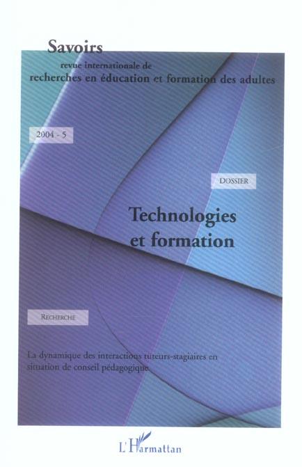 Revue Savoirs Technologies et formation
