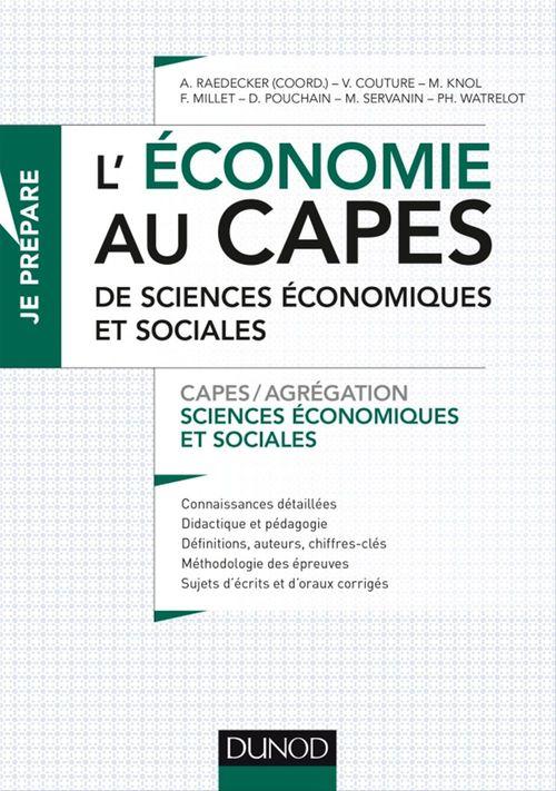 Collectif L'économie au CAPES de SES