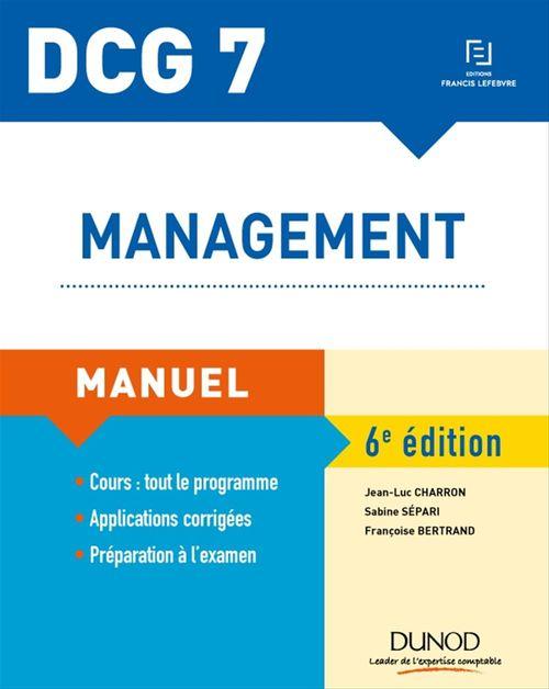 Sabine Sépari DCG 7 - Management - Manuel - 6e éd.