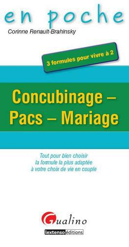 Corinne Renault-Brahinsky Concubinage, pacs, mariage