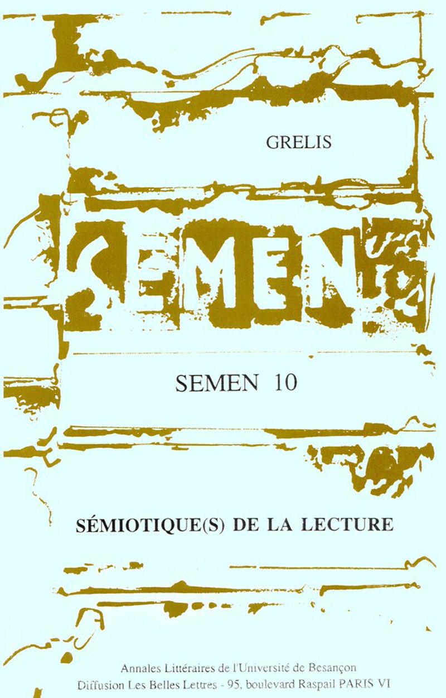 Presses Universitaires De Franche-Comté Sémiotique(s) de la lecture