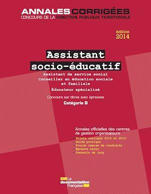 Cig Petite Couronne Assistant socio-éducatif ; concours sur titres, catégorie B (édition 2014)