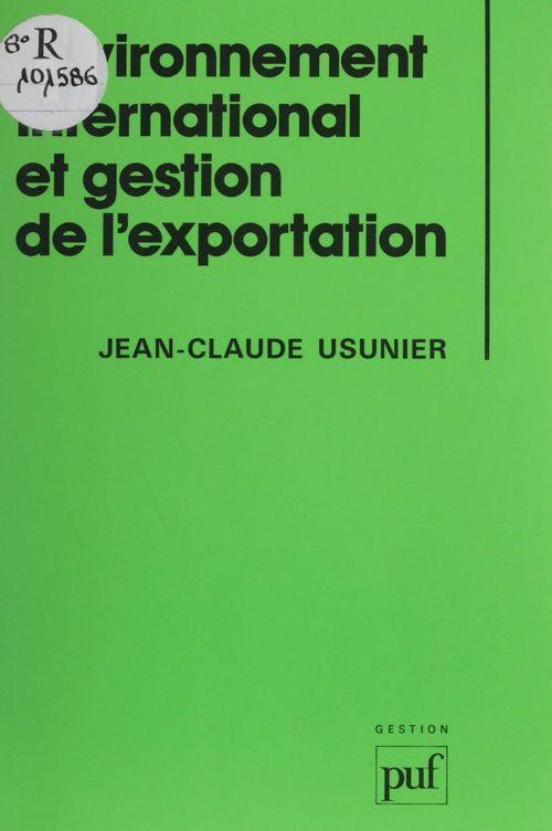 Environnement international et gestion de l'exportation
