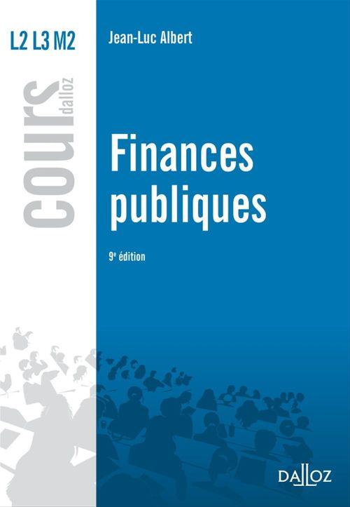 Jean-Luc Albert Finances publiques