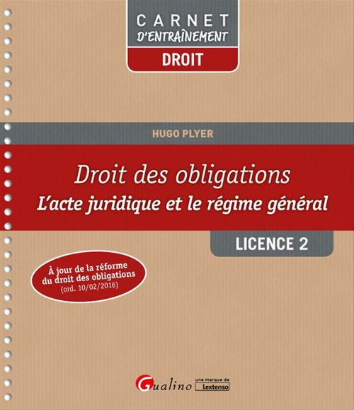 Hugo Plyer Droit des obligations - Licence 2 - 1e édition