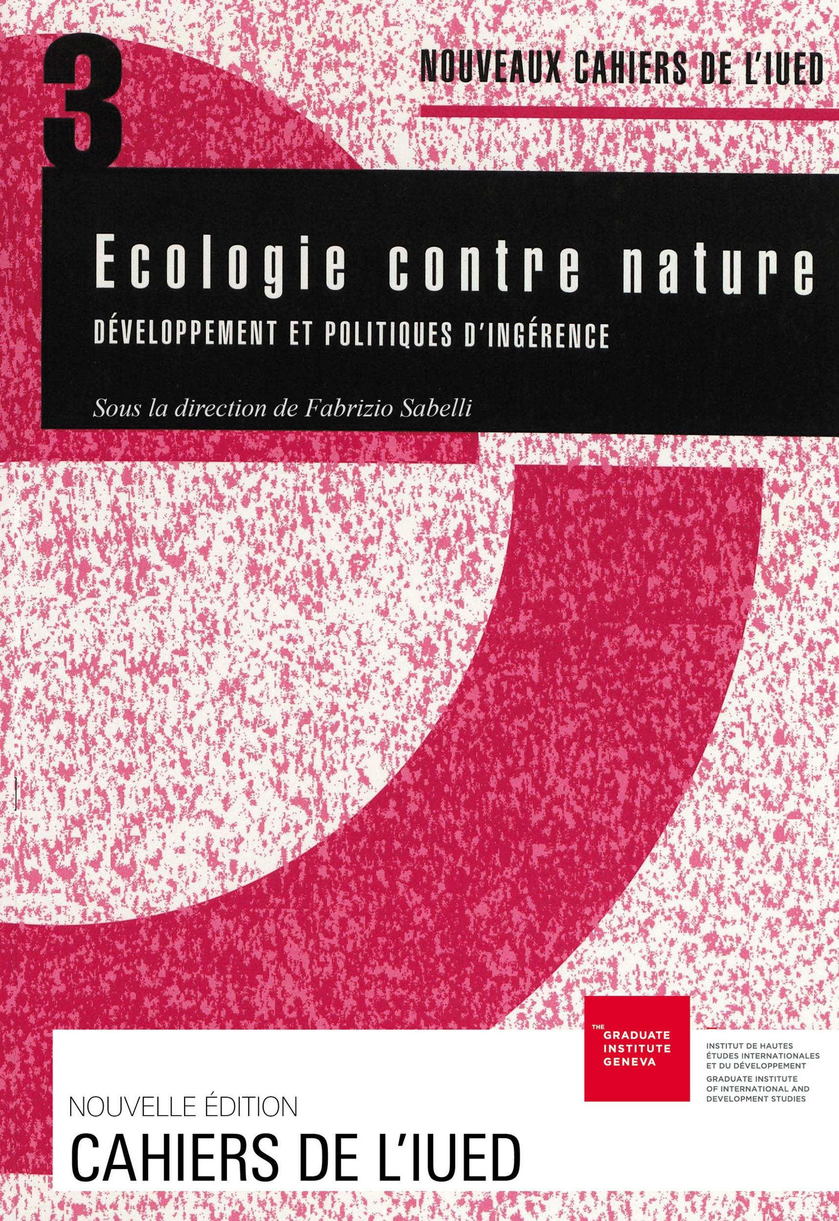 Fabrizio Sabelli Écologie contre nature