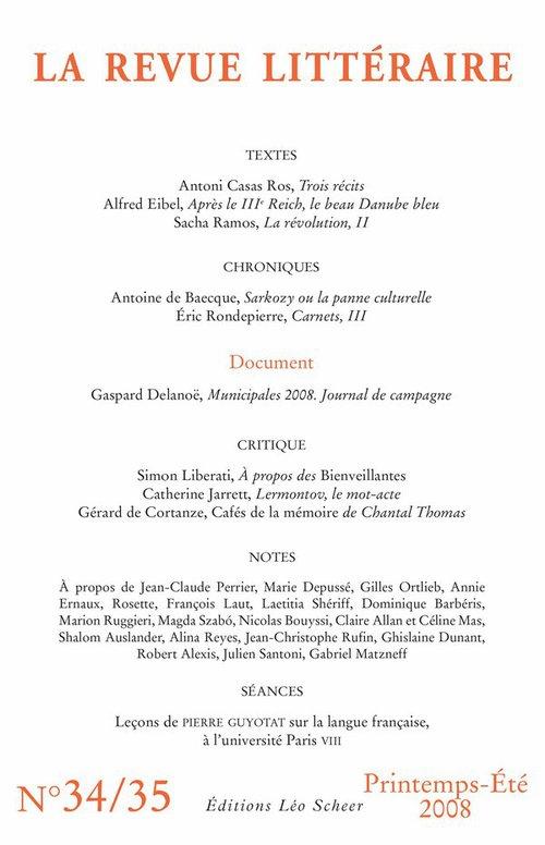 Collectif La Revue Littéraire n° 34-35