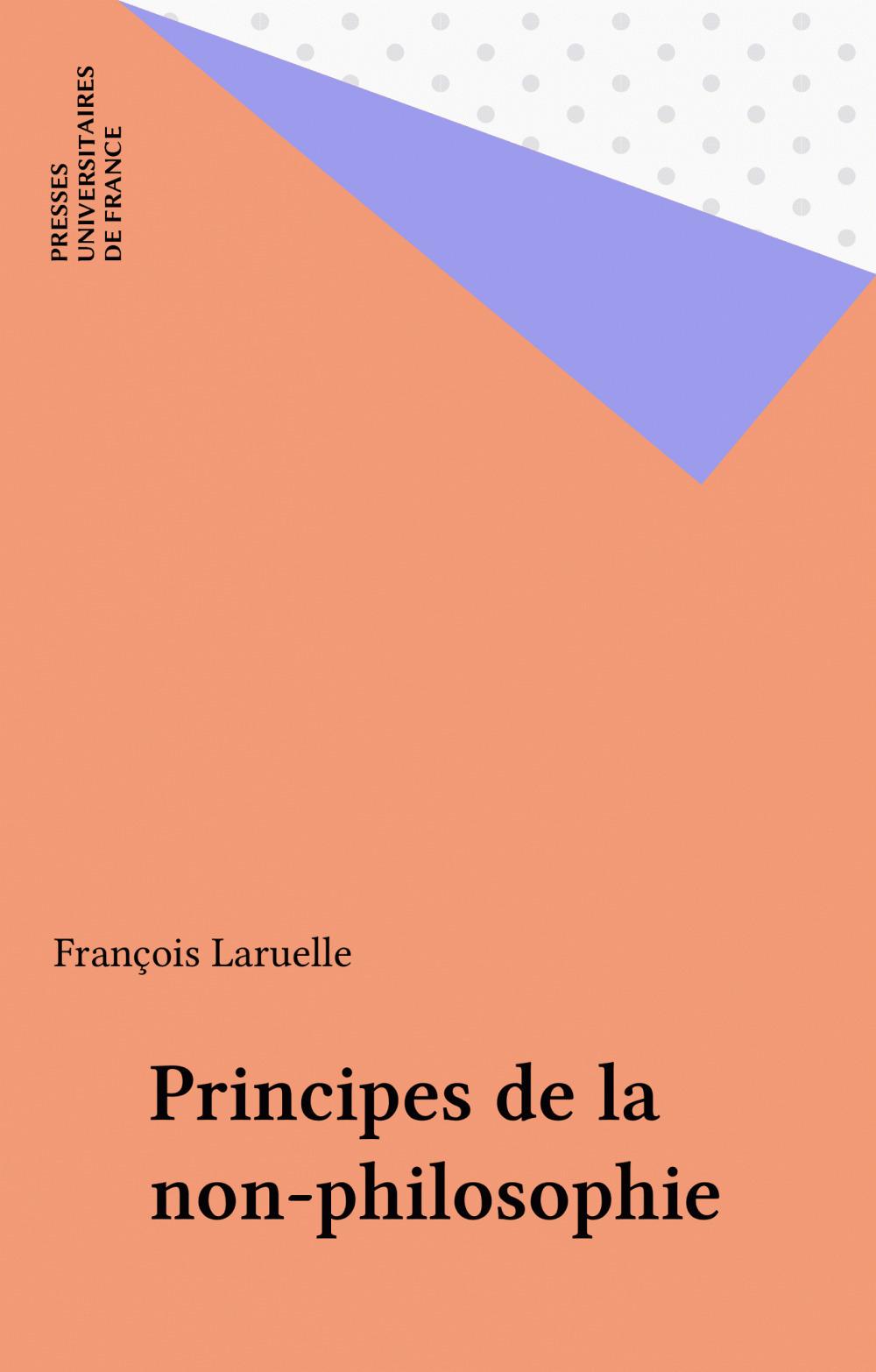 Principes de la non-philosophie