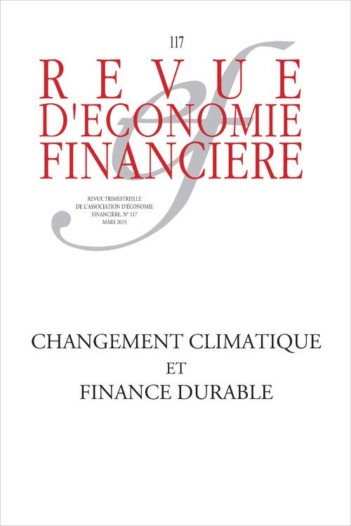 Aef/Boissinot/G Changement climatique et finance durable