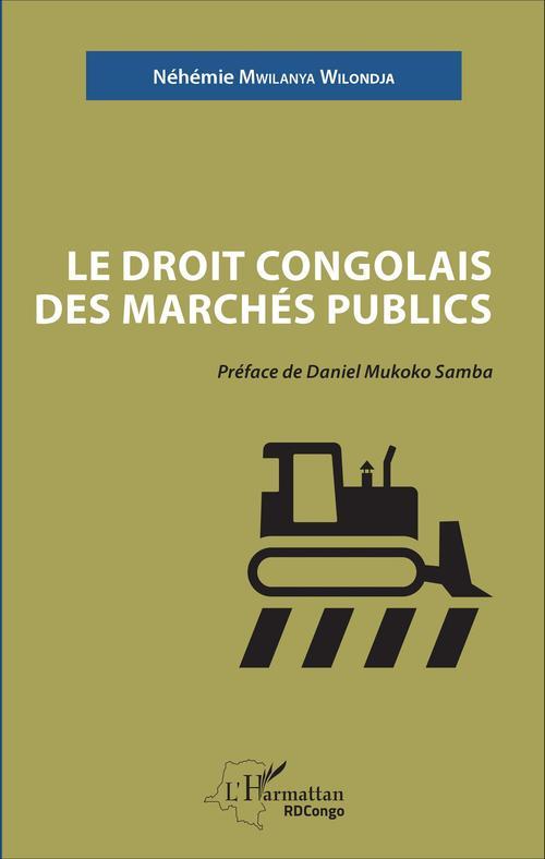 Le droit congolais des marchés publics