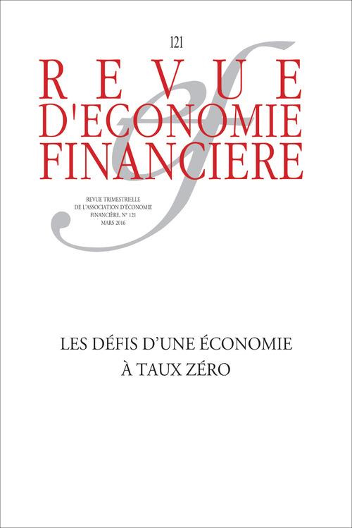 Collectif Aef Les défis d'une économie à taux zéro