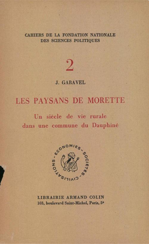 Garavel Joseph Les paysans de Morette