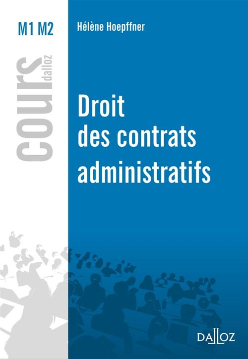 Hélène Hoepffner Droit des contrats administratifs