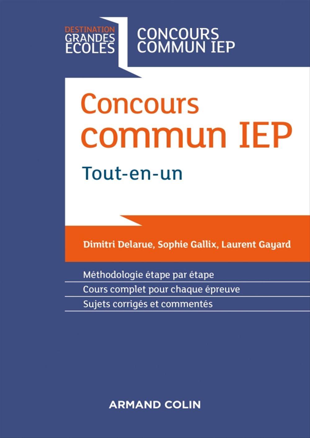 Sophie Gallix Concours commun IEP