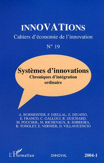 Collectif Systèmes d'innovations ; chroniques d'intégration ordinaire